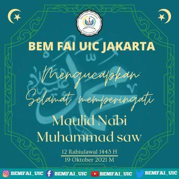 Selamat memperingati Maulid Nabi Muhammad SAW 12 Rabiulawal 1443 H /19 Oktober 2021 M.  _Kominfo 19/10/21